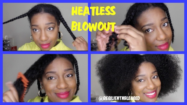 ig heatless blow out