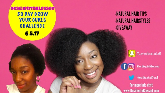 the 30 day grow your curls challenge